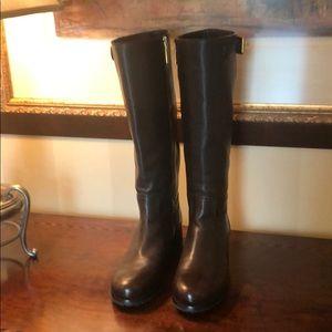 Prada Brown Full Grain Leather Boots